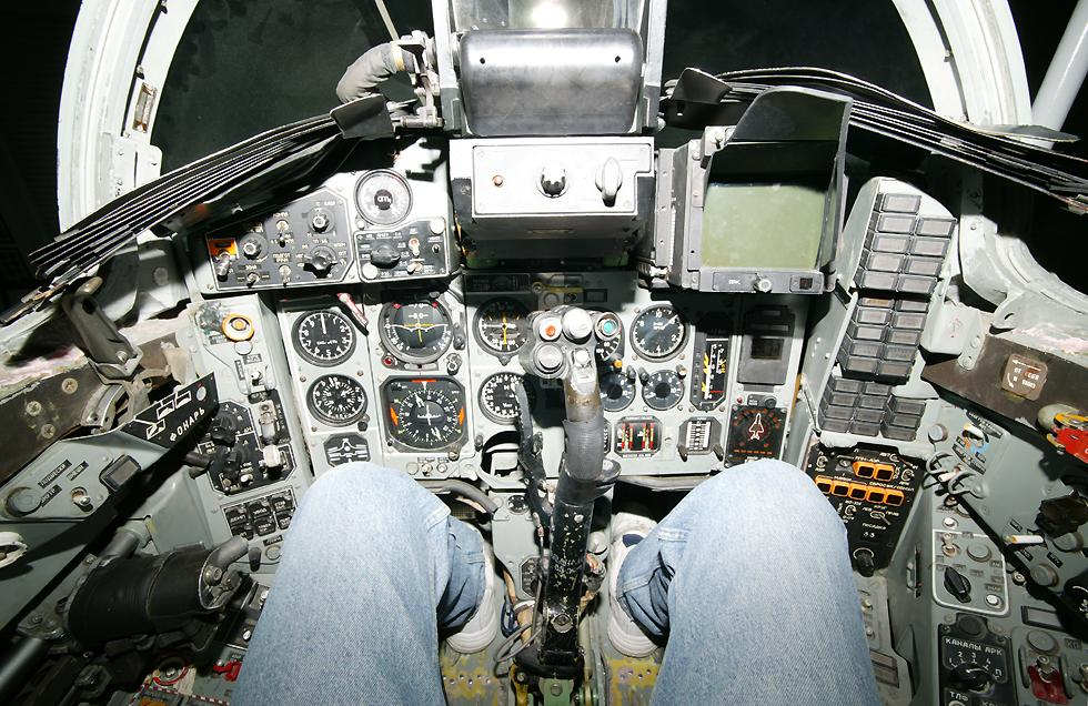 Mig 29 Aircraft Cockpit Image.