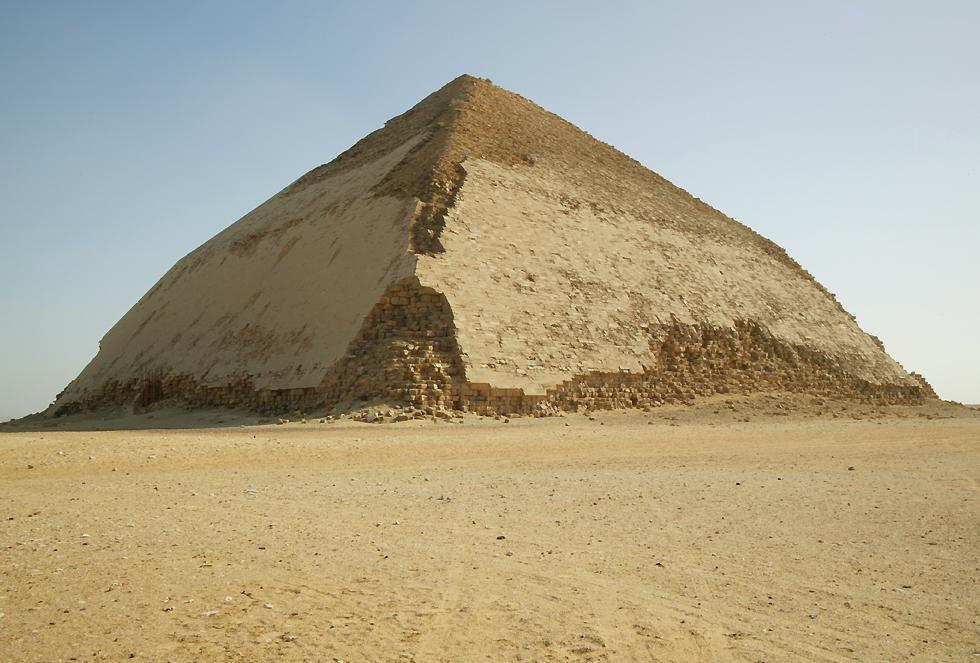 Bent Pyramid. Note the bend that gave this its name