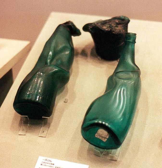 bottles melted by blast 900 meters away