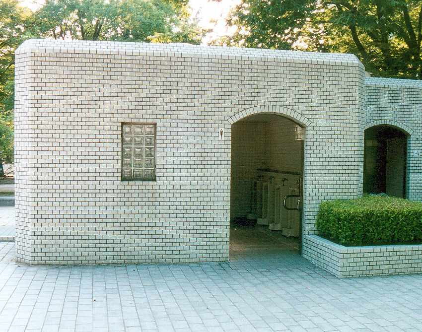 toilet block with visible urinals
