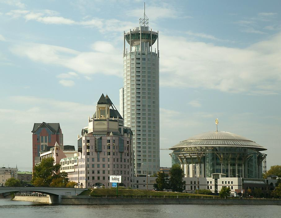 Moscow international concert hall and river towers business center