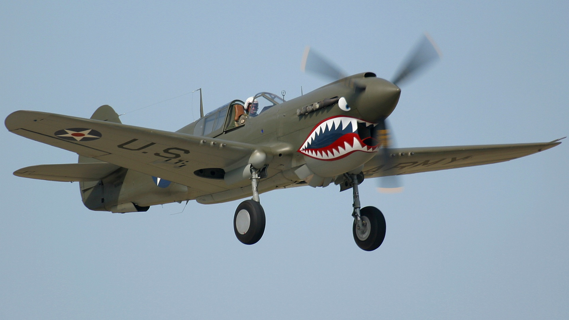 P40 Warhawk Photographed At The Oshkosh AirVenture 2002 Airshow Using A Canon D60 Digital Camera And