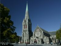 Christchurch cathedral photographed in February of 2003 using a Canon 1Ds digital camera and Sigma 15-30mm lens