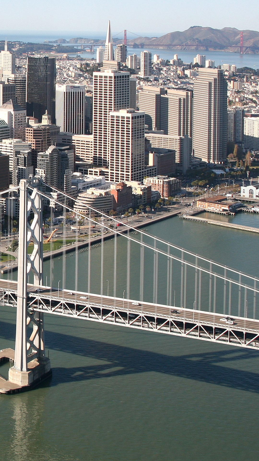 San Francisco and the Bay Bridge photographed in December of 2011 ...