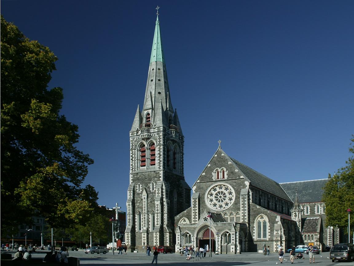Christ Church Shooting Hd: New Zealand Cities Wallpaper